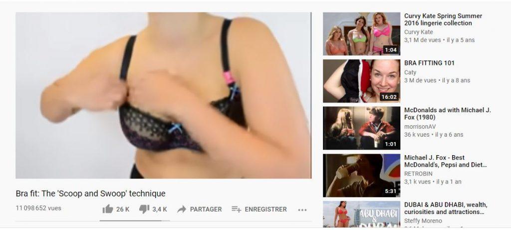 La chaine youtube de Curvy Kate